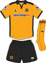 Wolverhampton Wanderers FC Home Kit